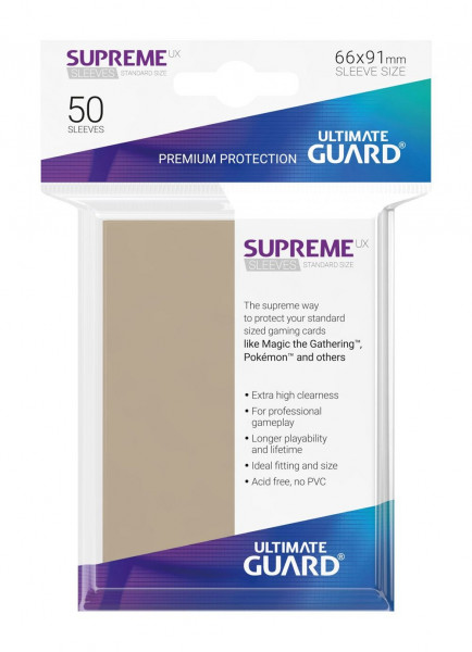 Supreme UX Sleeves - 66x91 mm (50), Sand