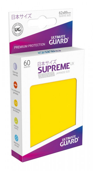 Ultimate Guard - Supreme UX Sleeves 62x89 (60), yellow