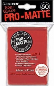 Deck Protector Sleeves - Pro-Matte Sleeves Red (50)