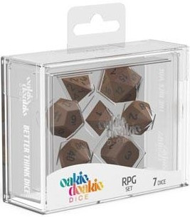 Oakie Doakie Dice - RPG Set Metal Dice Brasstige (7)