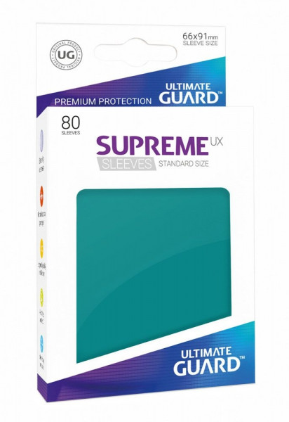 Supreme UX Sleeves - 66x91 (80), petrol