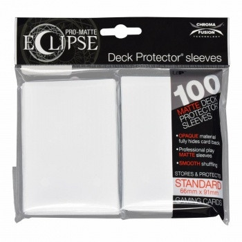Deck Protector Sleeves - Pro-Matte Eclipse, 66x91 mm (100), arctic white