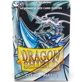 Dragon Shield - Card Sleeves: Clear Matte, japanese Size (60)
