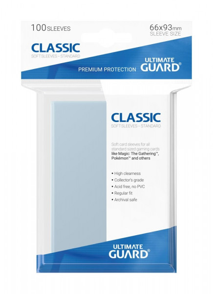 Classic Soft Sleeves - 66x93 mm (100)