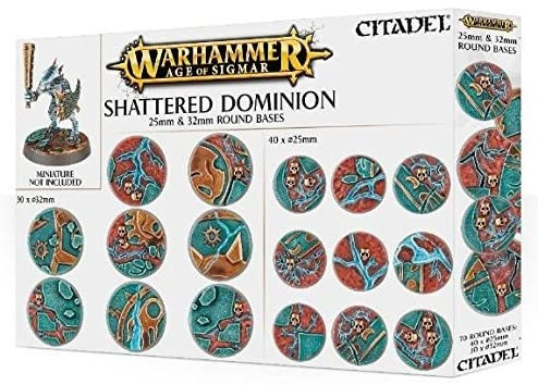 Warhammer: Age of Sigmar - Shattered Dominion: 25mm & 32mm Round Bases