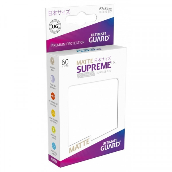 Ultimate Guard - Matte Supreme UX Sleeves 62x89 (60), white